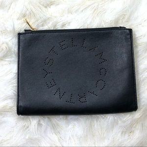 Stella McCartney small Logo faux leather pouch